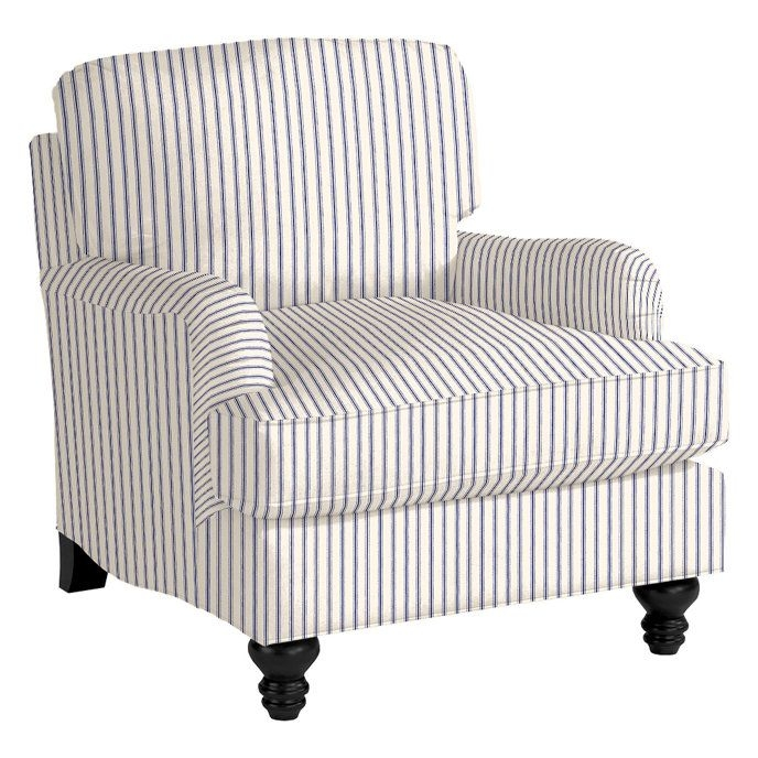 Striped Club Chair 2