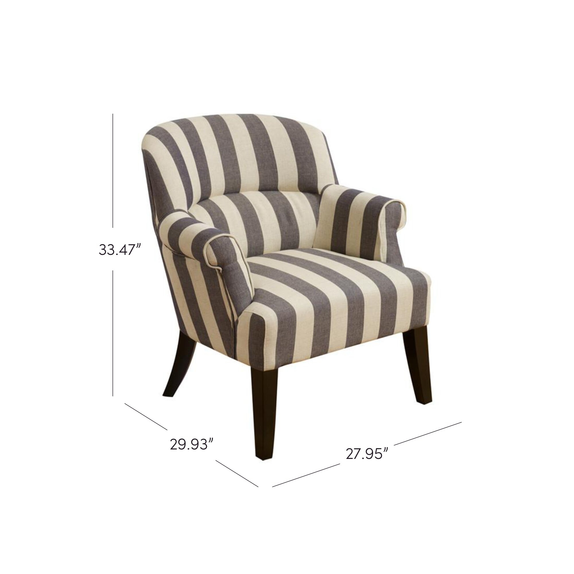 Merveilleux Striped Club Chair 4