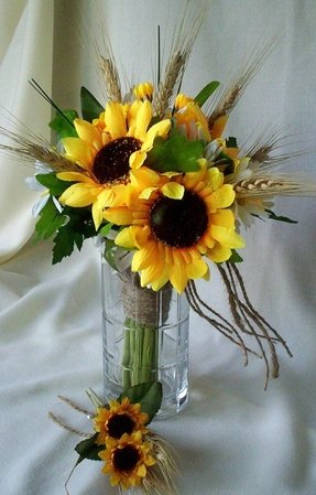 Silk Sunflower Arrangements Foter