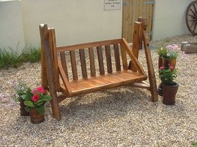 Swinging benches for the garden