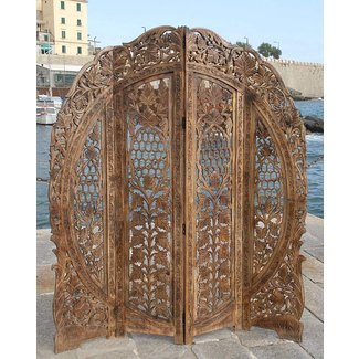 This is so beautiful 4 panel screen room divider paravent