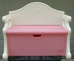 Vintage victorian little tikes tykes pink white toy bench full