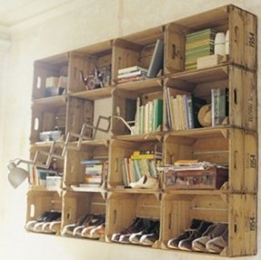Wooden Wall Mounted Shelving Units