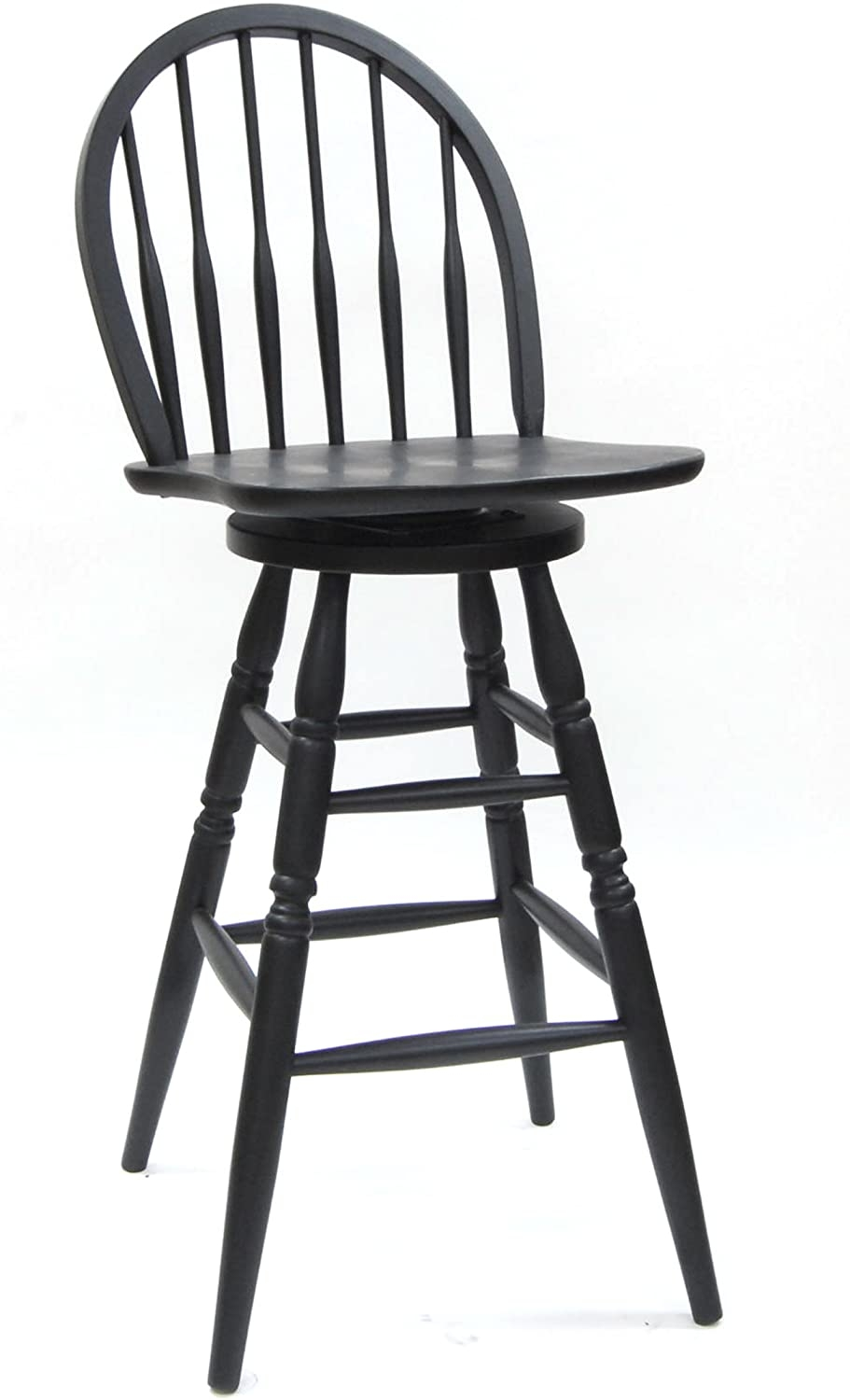 162 windsor swivel bar stool antique black