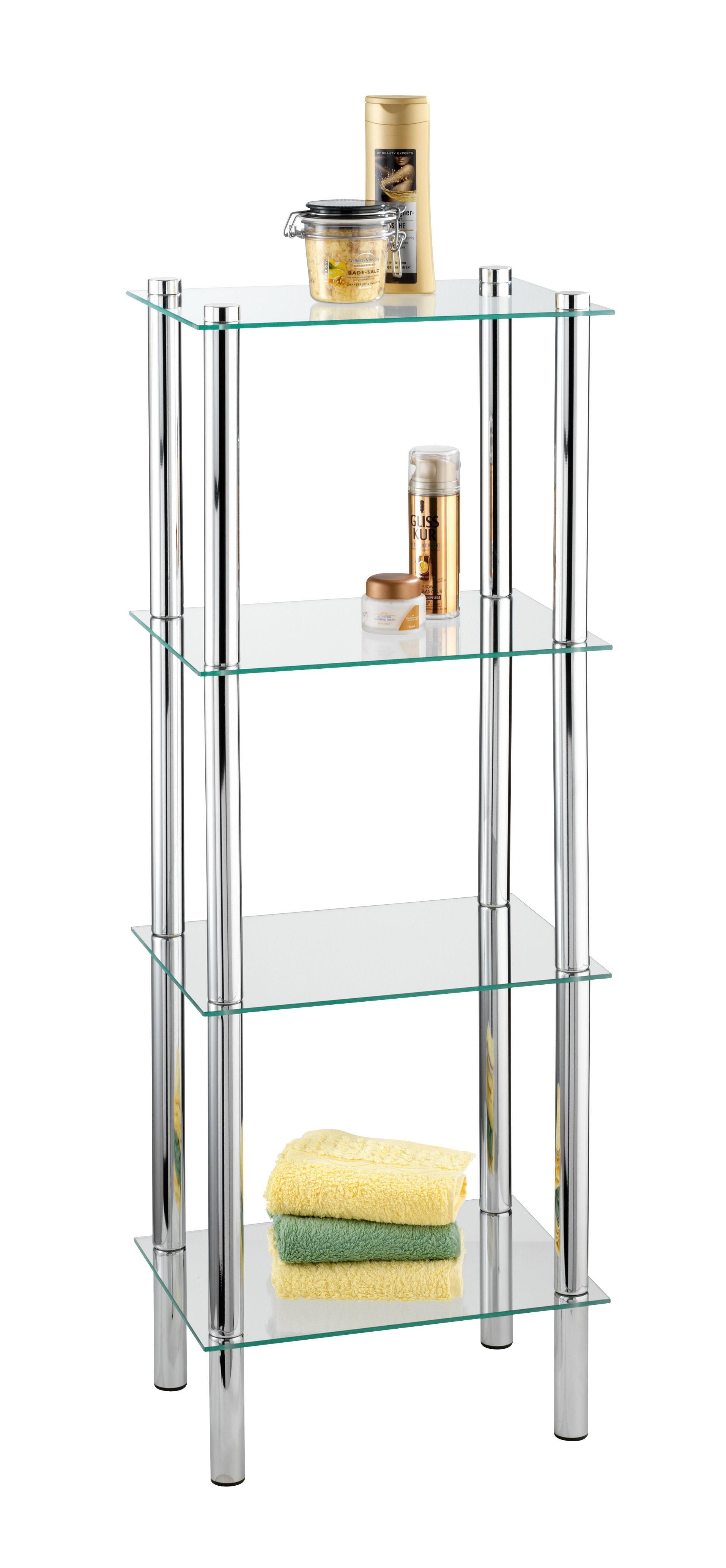free standing glass shelves foter rh foter com chrome glass shelf support bracket chrome glass shelving