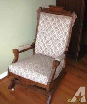 Merveilleux Antique Upholstered Rocking Chair 100 Clemson For Sale In