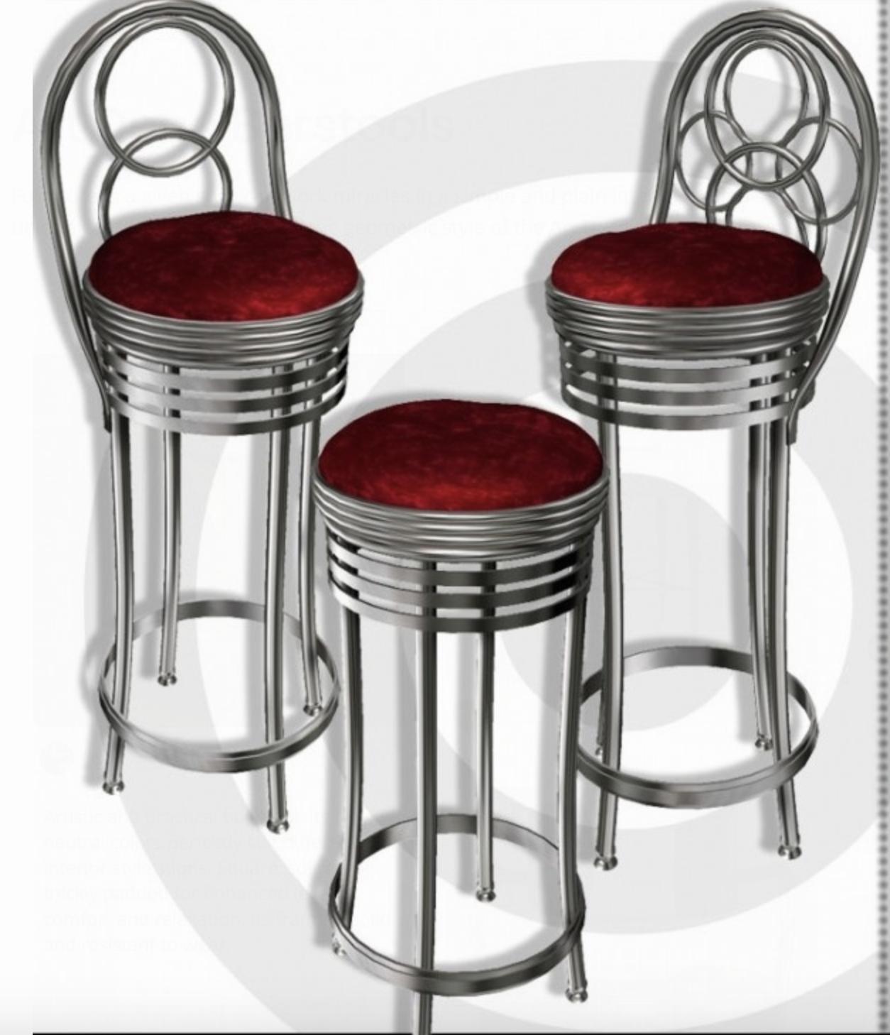 Art Deco Bar Stools 3