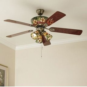 Stained Glass Ceiling Fan Light Shades Foter