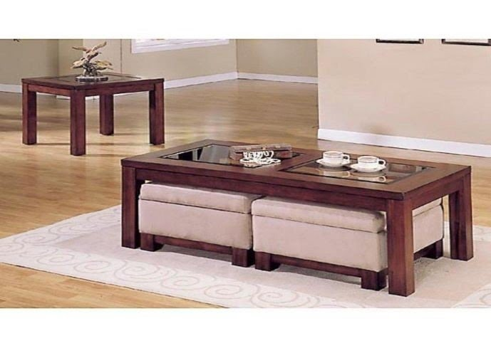 Coffee Table With Storage Ottomans Underneath