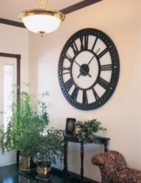 oversized wall clocks foter. Black Bedroom Furniture Sets. Home Design Ideas