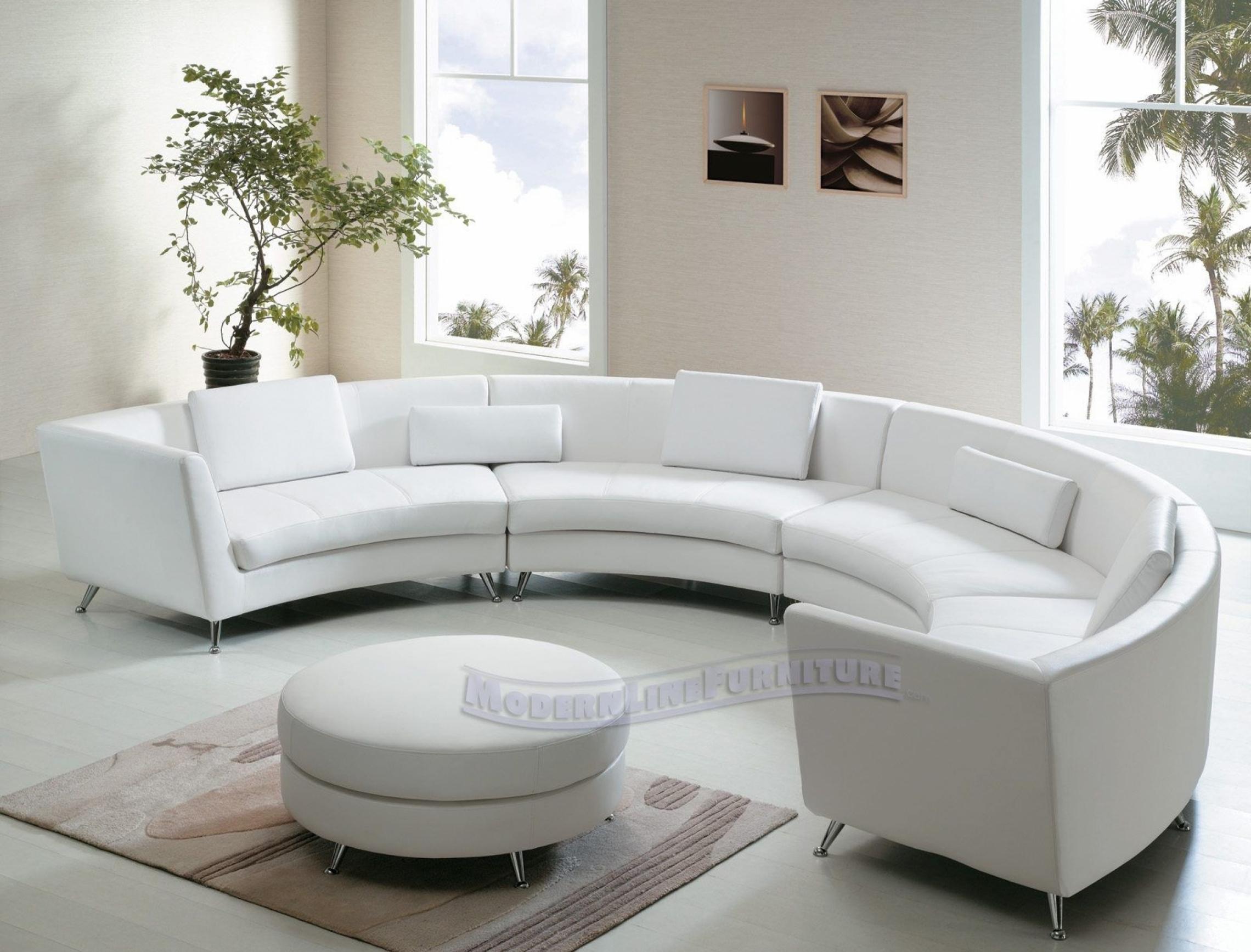 Amazing Round Leather Sofa
