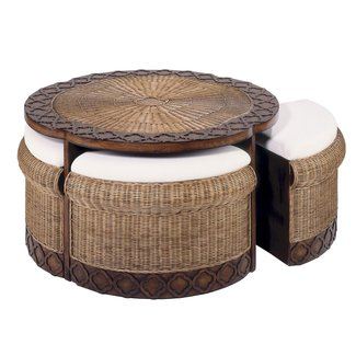 Super Round Wicker Ottoman Coffee Table Ideas On Foter Machost Co Dining Chair Design Ideas Machostcouk