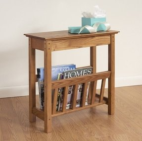 Side table magazine rack 1