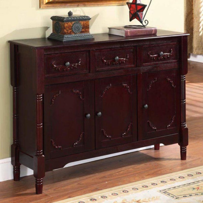 Charming Sofa Table With Storage Drawers
