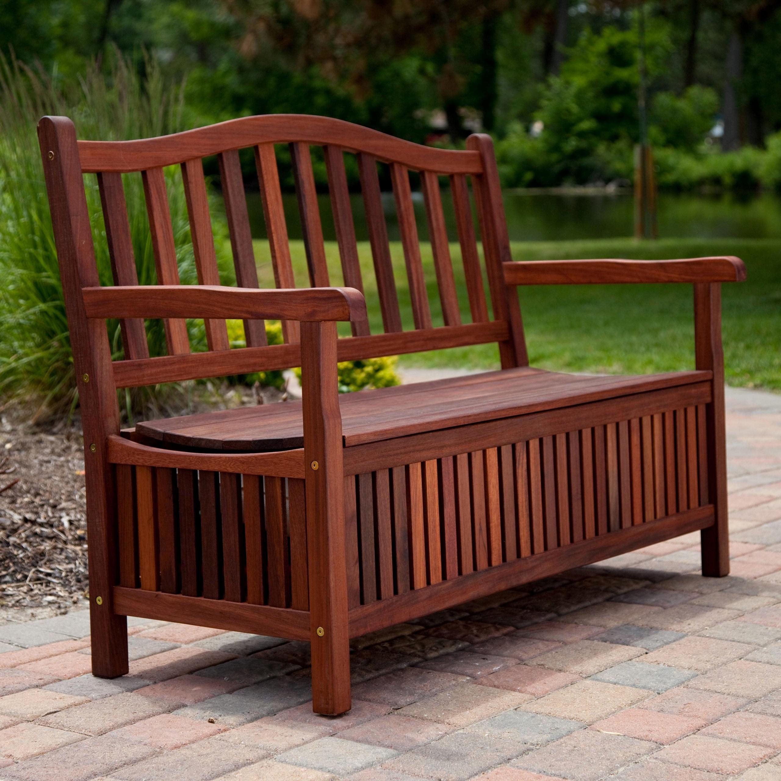 Teak Type 4 Patio Storage Bench
