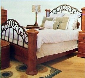 Wood And Wrought Iron Headboards Foter