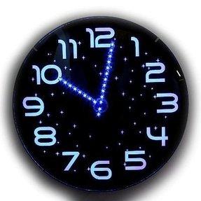 Twilight Stunning Og Blue Led Wall Clock 30cm