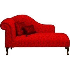 Beautiful Vibrant Red Chaise Lounge At The Foomart