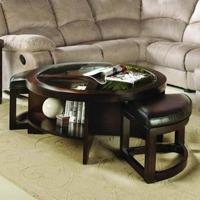 Coffee tables with seating underneath foter - Woodbridge home designs avalon coffee table ...