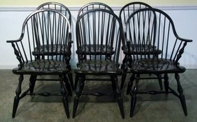 Black windsor chair 2