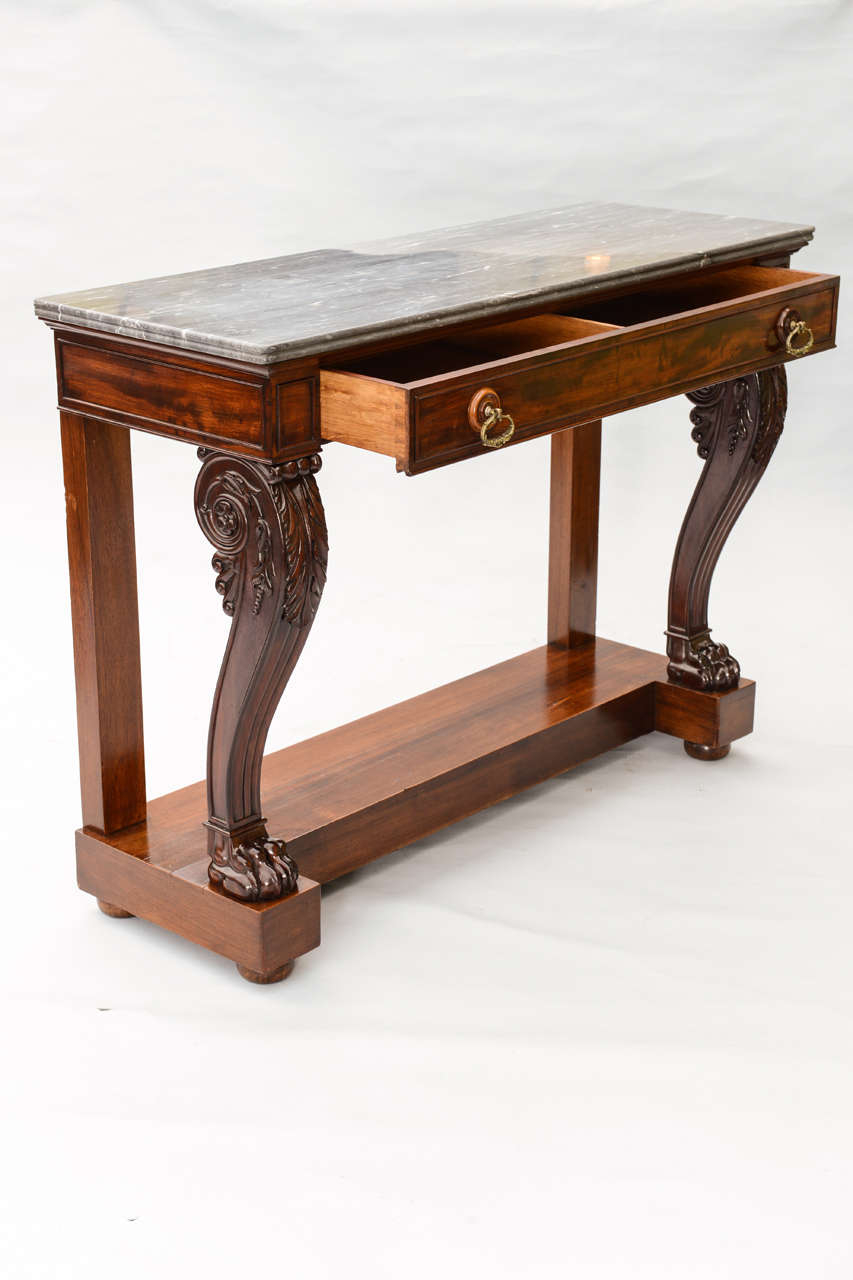 Console Table Marble Top