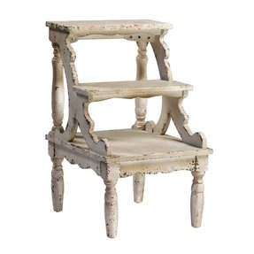 Elegant white step stool