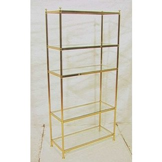 Glass shelf etagere 4