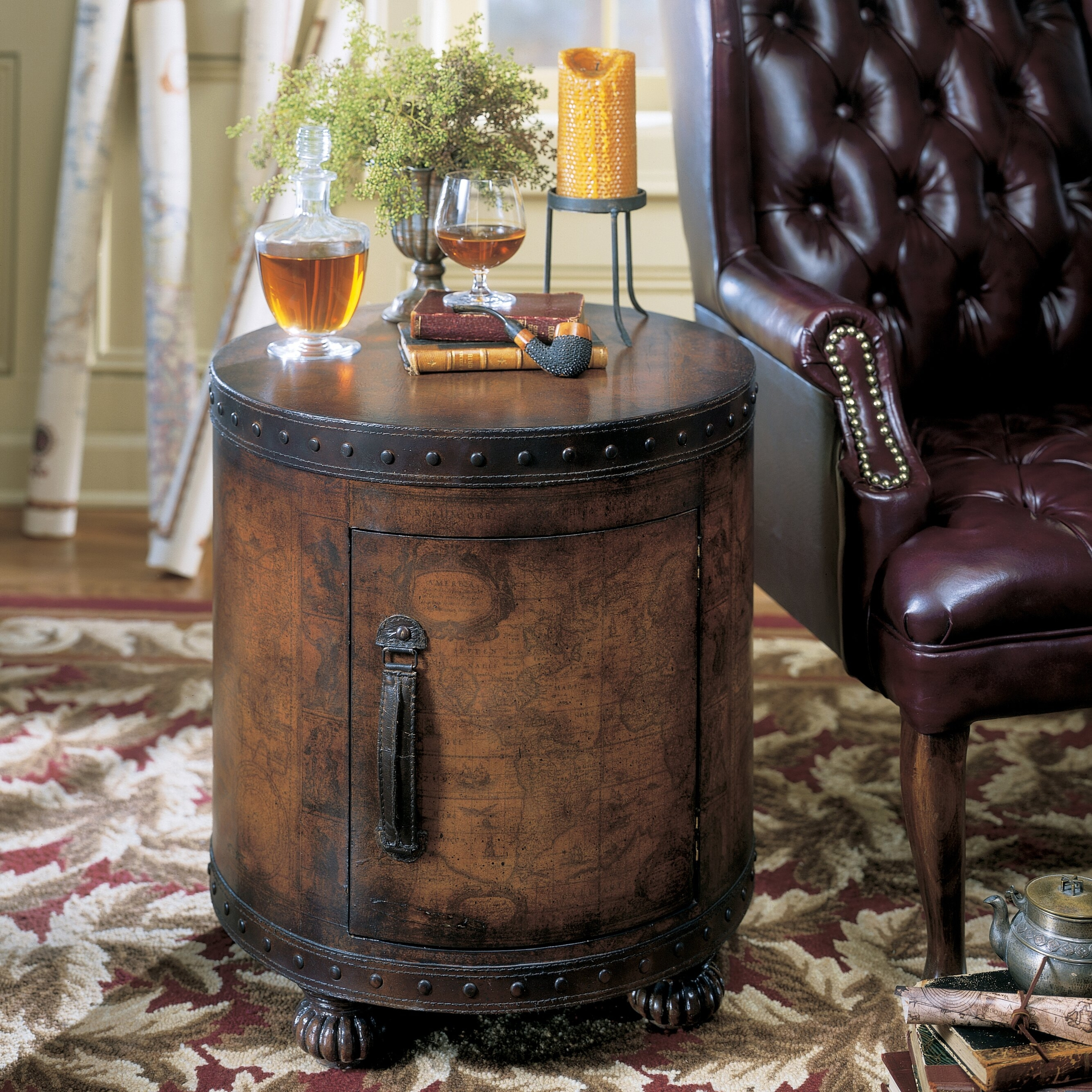 Gentil Leather End Tables   Ideas On Foter