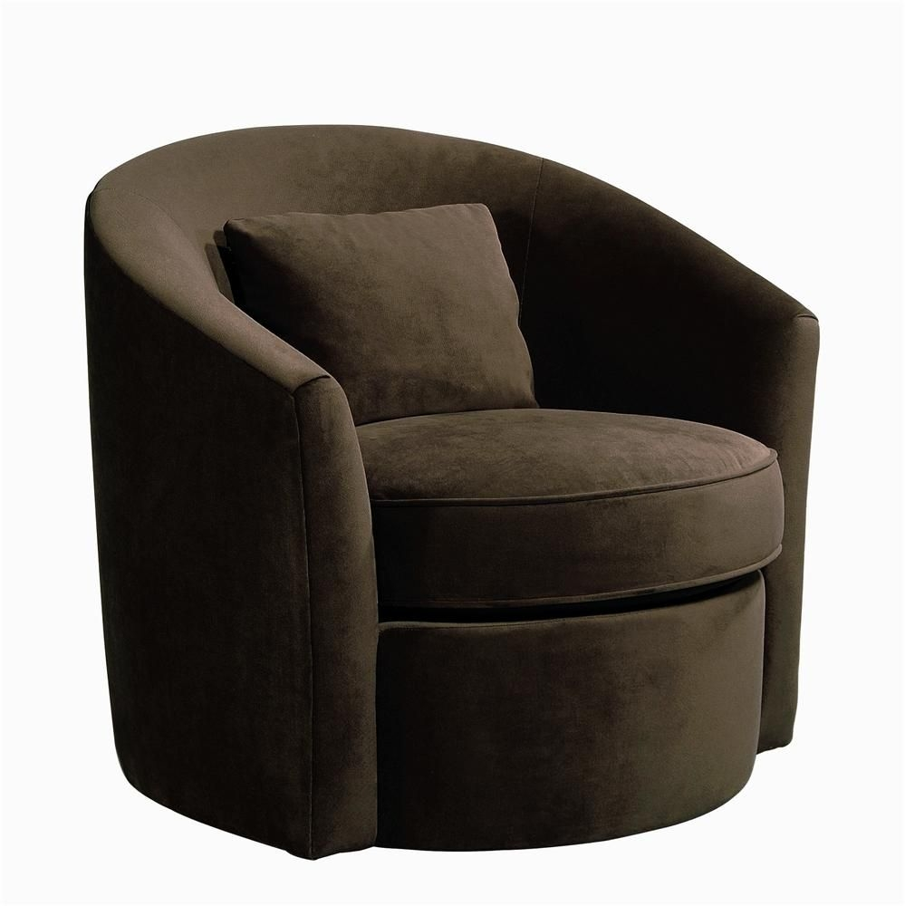 Beau Leather Swivel Chair Living Room