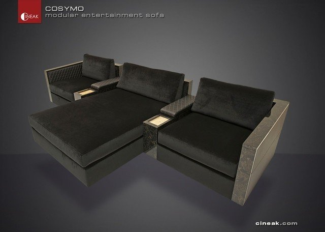 Ordinaire Media Room And Home Theater Sectional Sofa By Cineak Sectional
