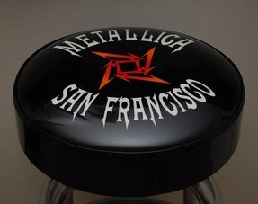 Metallica bar stool photograph
