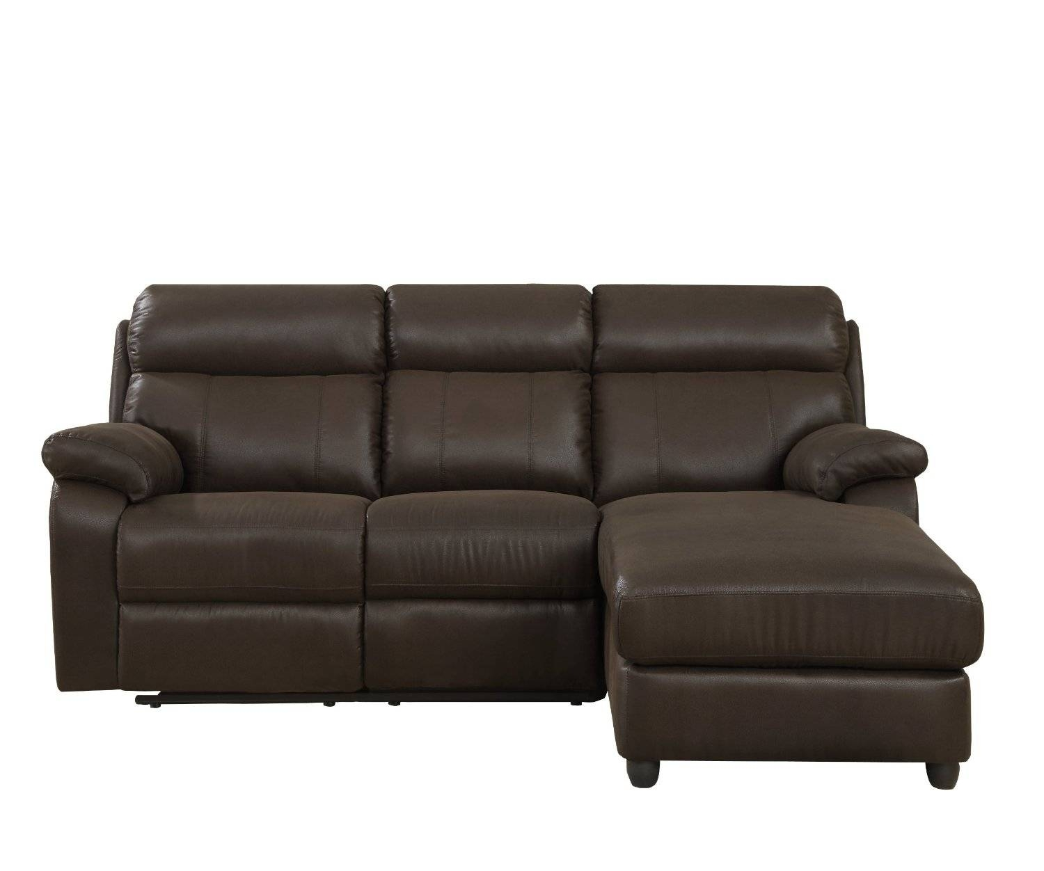 Charmant Piece Small Leather Sectional Sofa With Reclining Back Chaise