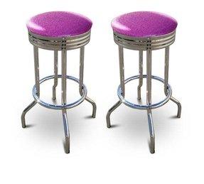 Unique Purple Kitchen Bar Stools