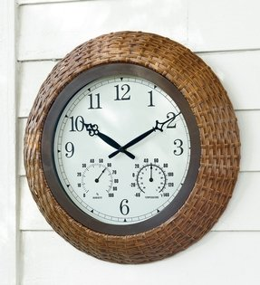 Rattan wall clocks 1