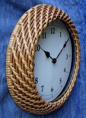 Rattan wall clocks 4