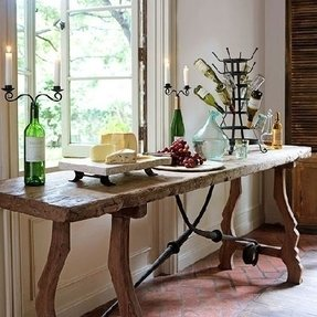 Rustic trestle console table 16 of 25