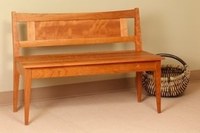 Shaker bench with low back traditional indoor benches seattle