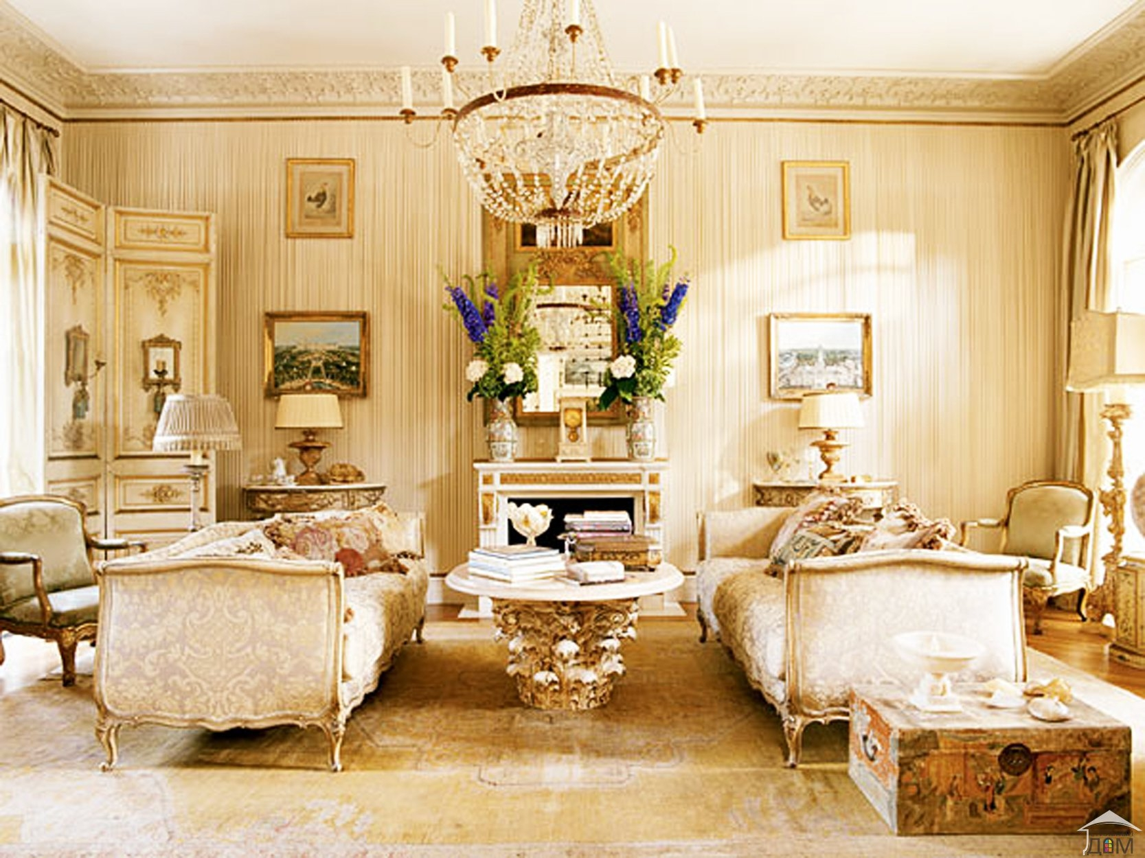 This Beautiful Soft Hued Living Room Gets The Gilded Touch
