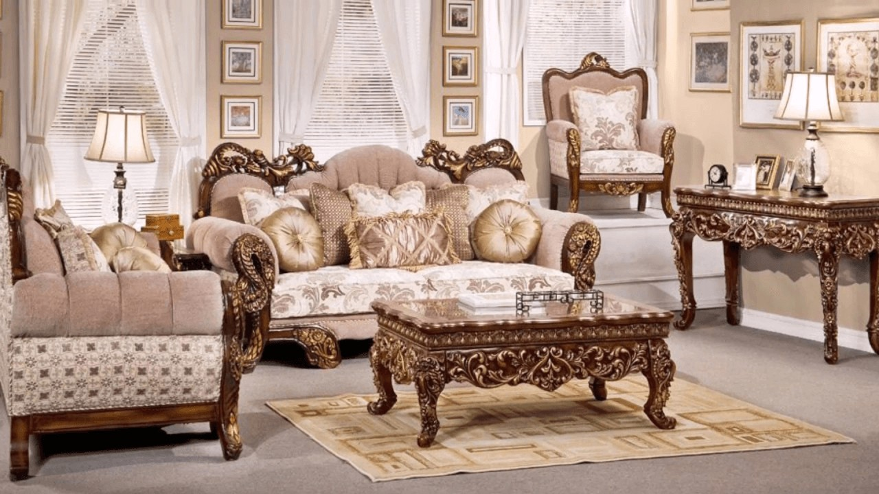 Victorian Inspired Luxury Formal Living Room Furniture Hd 275 1