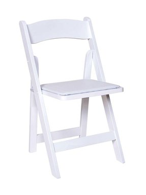 White folding chair with padded seat 2 00 wood black