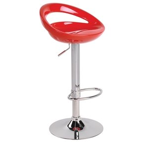 White plastic bar stools