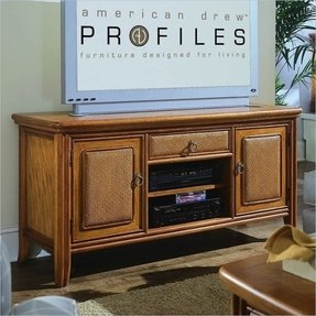Antigua fully assembled tv stand by american drew