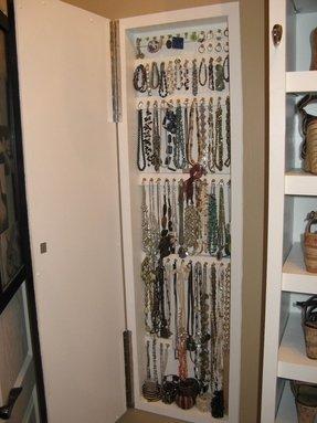 Custom Jewelry Storage Cabinet Built In Wall 1