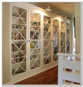 Library Bookcase With Gl Doors