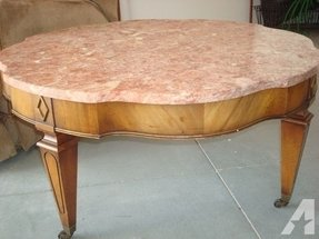 Real marble coffee table