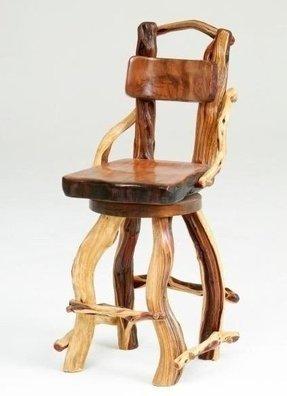 Rustic Cedar Log Bar Stools Foter
