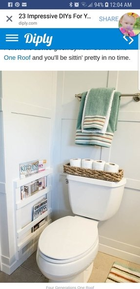 Wall Mounted Bathroom Magazine Rack