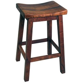 Oak Saddle Seat Bar Stool Foter