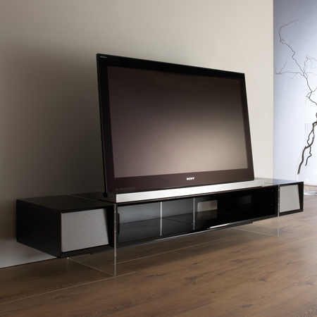 Tv Stand With Media Storage Suitable For Flat Screen Tvs