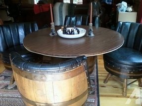 Whiskey barrel dinning table and chairs clevleland for sale in